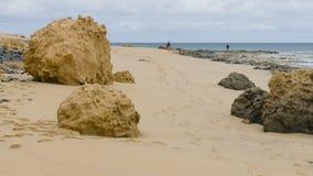 Beach on Porto Santo Island Royalty Free Stock Photography
