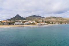 Beach on Porto Santo Island Stock Image
