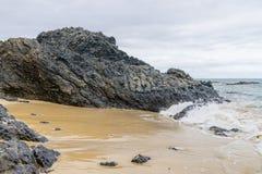Beach on Porto Santo Stock Image