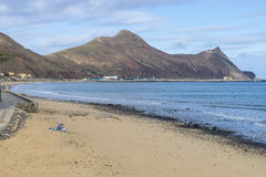 Beach on Porto Santo Royalty Free Stock Photo