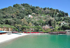 Beach,Portofino,italian Riviera,Liguria,Italy Royalty Free Stock Photography