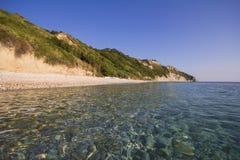 The beach of Portonovo on the Conero Promontory in Marche Stock Photo