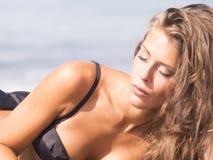 Beach portrait Stock Images