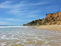 Beach. Portugese cliffs in a sunny day Stock Photo