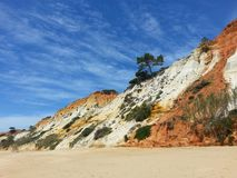 Beach. Portugese cliffs in a sunny day Stock Photos