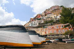 Beach of Positano Stock Photography