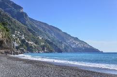 Beach in Positano, Amalfi coast, italy Stock Photo