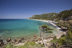 Beach Potami in island Samos in Greece royalty free stock image