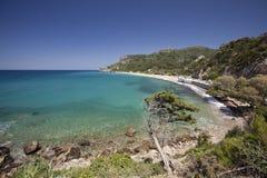 Beach Potami in island Samos in Greece stock images