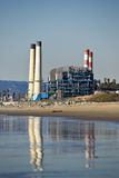 Beach Power Plant Stock Image