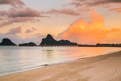 The beach of Prachuap Khiri Khan Stock Images