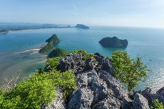 The beach of Prachuap Khiri Khan Stock Image