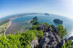 The beach of Prachuap Khiri Khan Royalty Free Stock Image