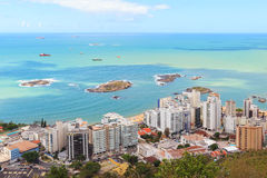Beach Praia da costa and  Praia da Sereia, Vila Velha, Vitoria, Royalty Free Stock Photo