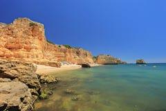 A beach praia da marinha in Algarve Royalty Free Stock Images