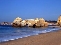 Beach, Praia da Rocha, Algarve, Portugal. Stock Images