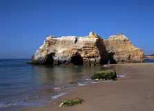 Beach, Praia da Rocha, Algarve, Portugal. Stock Photos
