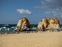 Beach of Praia da Rocha in Portimao Stock Image