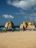 Beach of Praia da Rocha in Portimao Royalty Free Stock Photo