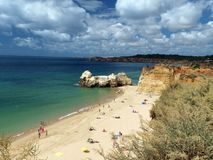 Beach of Praia da Rocha in Portimao Stock Photography