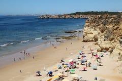 Beach Praia da Rocha in Portimao Stock Image