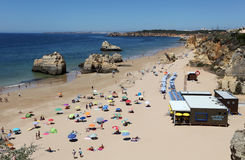 Beach Praia da Rocha in Portimao Royalty Free Stock Images
