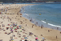 Beach Praia da Rocha in Portimao Stock Images