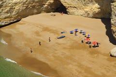 Beach Praia da Rocha in Portimao. Algarve royalty free stock images