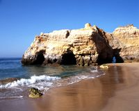 Beach, Praia da Rocha. Royalty Free Stock Photo