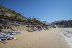 The beach, praia de burgau Stock Photography