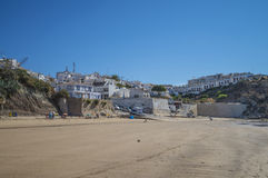 The beach, praia de burgau Stock Images
