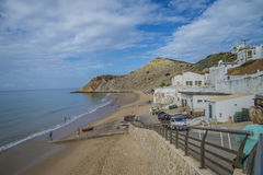 The beach, praia de burgau Royalty Free Stock Photo