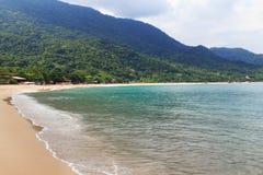 Beach Praia de Fora,特林达迪, Paraty海湾,状态里约热内卢, 图库摄影