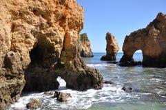 普腊亚da Piedade,阿尔加威,葡萄牙,欧洲 免版税库存照片
