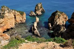 Praia da Piedade, Algarve, Portugal, Europe Stock Photography
