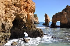 Praia da Piedade, Algarve, Portugal, Europe. Beach Praia de Piedade, Algarve, Portugal, Europe Royalty Free Stock Photos