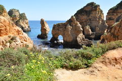 Praia da Piedade, Algarve, Portugal, Europe. Beach Praia de Piedade, Algarve, Portugal, Europe Royalty Free Stock Photography