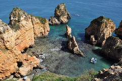 Praia da Piedade, Algarve, Portugal, Europe Royalty Free Stock Images