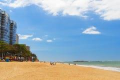 Beach Praia Taparica, sea,  Vila Velha, Espirito Santo, Brazil Stock Images