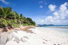 Beach of Praslin Stock Photo