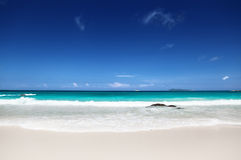Beach at Praslin island, Seychelles Stock Images