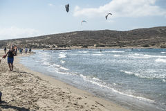 Beach in Prassonisi on Rhodes. Royalty Free Stock Image