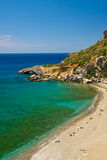 Beach Preveli, Crete Greece Royalty Free Stock Photography
