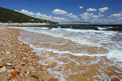 Beach of the Princess island taken in Istanbul Royalty Free Stock Photo