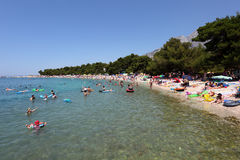 Beach in Promajna, Croatia Royalty Free Stock Photography