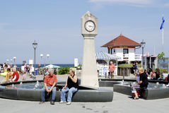 Beach promenade of Ruegen in Germany Stock Image