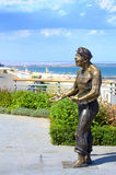 Burgas beach promenade sculpture Royalty Free Stock Photo