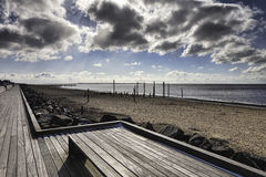 Beach Promenade near Esbjerg, Denmark Royalty Free Stock Photos