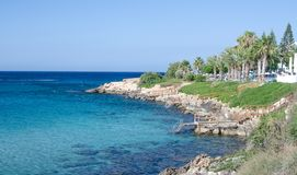 Beach in Protaras Royalty Free Stock Photo