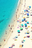 Beach. Public beach in Tropea, southern Italy Royalty Free Stock Photos
